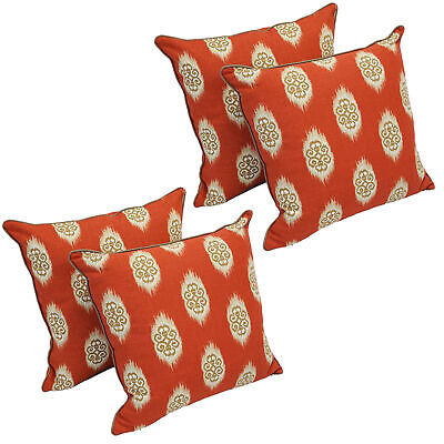 """Blazing Needles 18""""Corded Throw Pillows with Inserts  Red Ex"""
