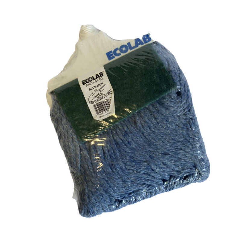 Ecolab 89990046 Grease Beater Mop Head ~ Blue ~  Mop Head NEW