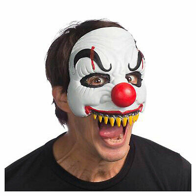 Evil Scary Clown Foam Half Mask IT Jester Halloween Costume Accessory Men Teens](Mens Evil Clown Halloween Costumes)