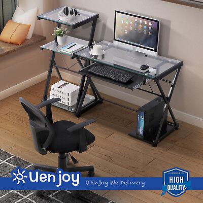 Computer Desk Corner PC Laptop Table Student Workstation Office Home Furniture