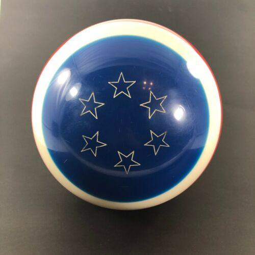 Vintage Ebonite Patriotic Yankee Doodle Red White Blue Bowling Ball 15 lbs.