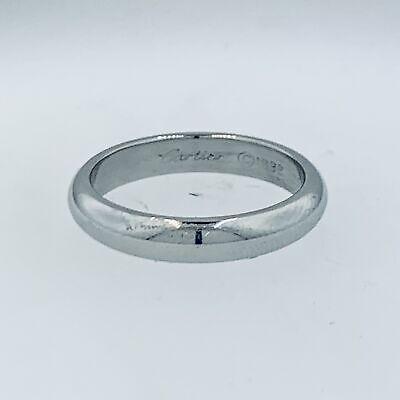 CARTIER PLATINUM WEDDING BAND RING SIZE 8.75  - $1,100.00