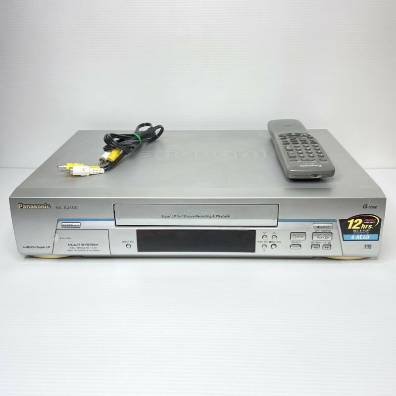 Panasonic NV-SJ400 4 Head Super LP VCR VHS Player w/ Remote - Tested and WORKING