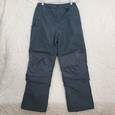 LANDS/' END Boys 12 Navy Squall Waterproof Iron Knee Snow Bibs NWT $80
