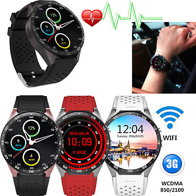 Android 5.1 3G Smart Watch Bluetooth Phone GPS Heart Rate for ios iphone Samsung ()