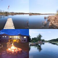 All inclusive waterfront cottage w walkout basement for rent