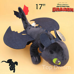 How to Train Your Dragon Plush Toothless Night Fury Soft Toy Doll Teddy 17