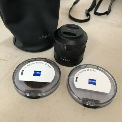 Sony 35mm f/2.8 Zeiss Sonnar T* ZA lens mint condition