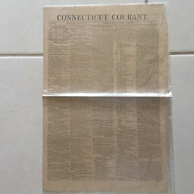 Connecticut Courant Newspaper  Hartford August 2  1815