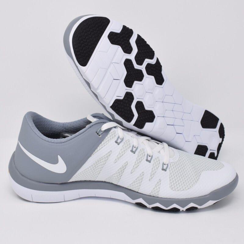 los angeles 12f80 bac79 Nike Free Trainer 5.0 V6 719922-110 White Grey Mens Training Shoes