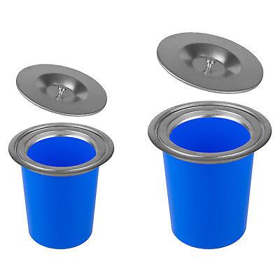 Edelstahl Einbau Abfalleimer Küche Arbeitsplatte Bio Mülleimer Abfallsammler (Mülleimer Arbeitsplatte)