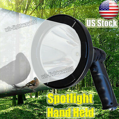 600W LED CREE 12v Rechargeable Spotlight Hunting Handheld Spot Light Camp Lamp