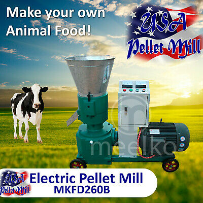 Electric Pellet Mill For Animal Food - MKFD260B - Free Shipping