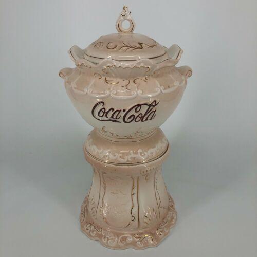 1998 The Coca-Cola Company Victorian Series Cracker Barrel Blush Pink Cookie Jar