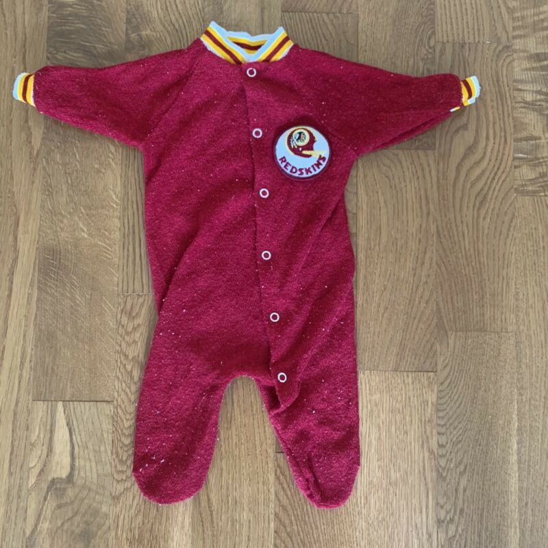 VINTAGE 80s RARE REDSKINS INFANT BODYSUIT NEWBORN 3 MONTHS SIZE SMALL