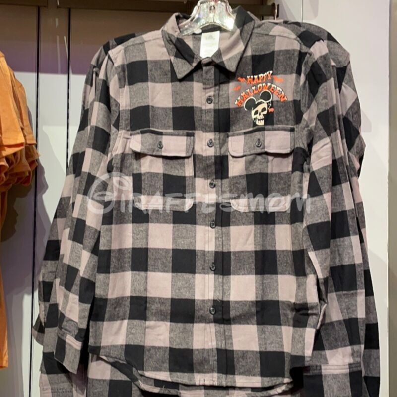 2021 Disneyland Halloween Plaid Flannel Shirt - XL