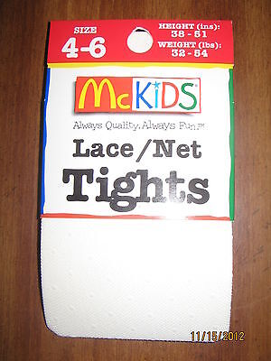 New Size 4-6 White Color tights NWT