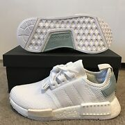 Adidas NMD_R1 W (White&Tactile Green) US4 DS Melbourne CBD Melbourne City Preview