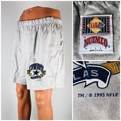 Dallas Cowboys Nutmeg Mens XL Shorts Made In The USA 1993 Gray Vintage Football Dallas Cowboys Football Shorts