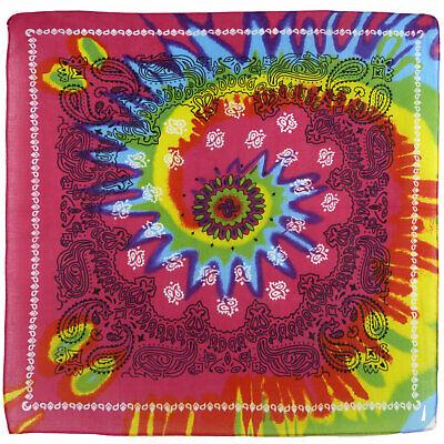 Cachemire psychédélique cravate teinture bandana Écharpe