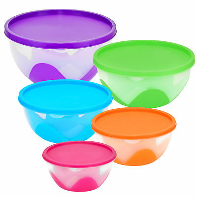 Nested & Stackable Bowl Food Storage Containers 5 Piece Multi-Purpose Set Food Storage Containers