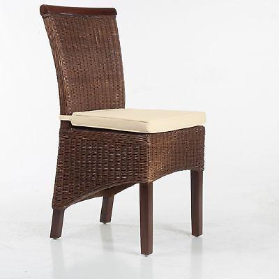 Larissa Stuhlkissen Sitzpolster Sitzkissen 100% Baumwolle creme mit Bindebänder - Baumwolle Stoff Stuhl