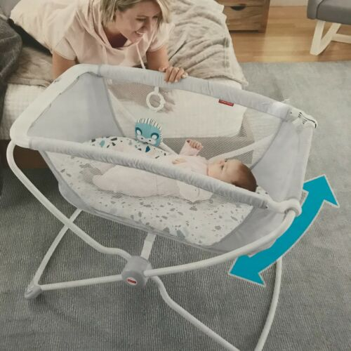 Fisher-Price Rock with Me Bassinet-Ocean Sands