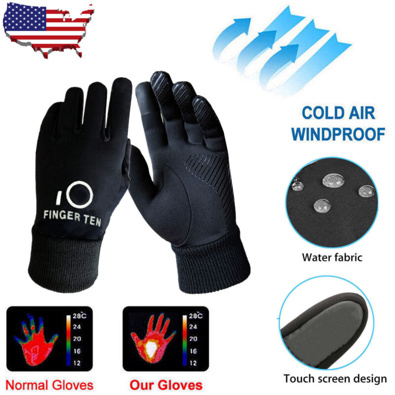 Kids Winter Gloves Waterproof Wind Resistant Thermal Snow Outdoor Mittens 3M