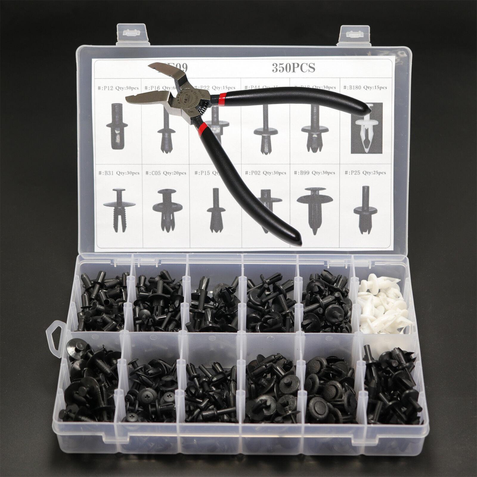 350pcs Auto Car Push Pin Rivet Trim Clip Panel Moulding Retainer + Rem