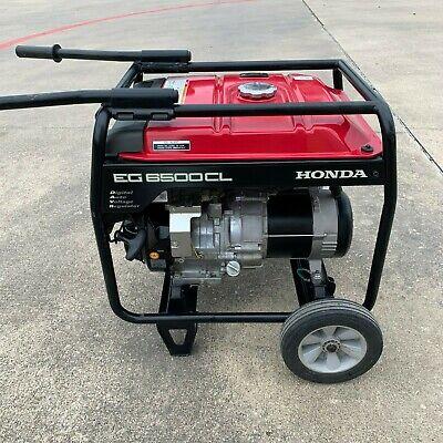 Honda Eg6500cl Generator Portable Davr Gas Power Camping Rv Eg6500 Wwheels