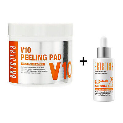 BRTC V10 Vitamin Pore Care Set Peeling Pad 80EA + Ampoule 30ml Vitalize K-Beauty