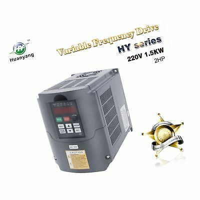Vfd 220v 1.5kw 2hp Variable Frequency Drive Cnc Motor Inverter Converter For ...