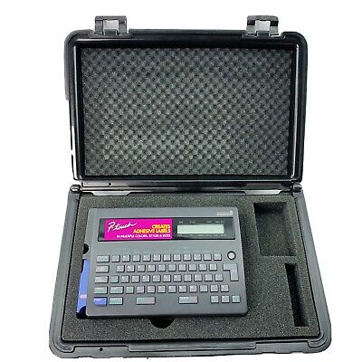 Brother P-touch Electronic Label Maker Printer Pt-20 W Hard Case Manual Tape