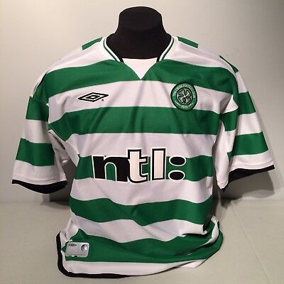 895f3fbb7 Celtic Soccer Football Club Mens Jersey FC ntl  Umbro XL Vapa Tech Scotland