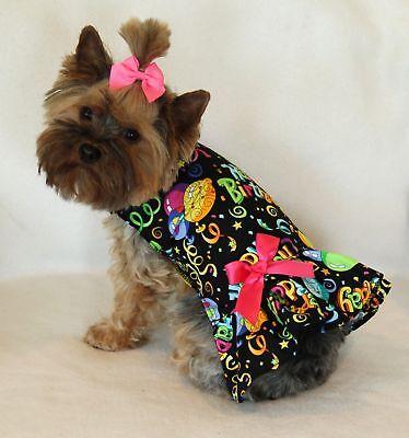 S Happy Birthday Dog dress clothes Clothing pet apparel Small PC Dog®