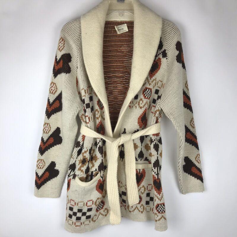 Vintage JC Penney Open Sweater Womens Size Medium Boho Hippy 1970s