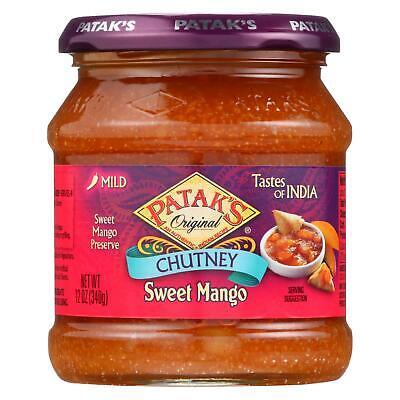 Pataks Chutney - Sweet Mango - Mild - 12 oz - case of - Mango Sweet Chutney
