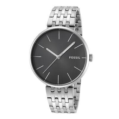 Fossil Men's Hutton BQ2439 42mm Black Dial Stainless Steel Watch