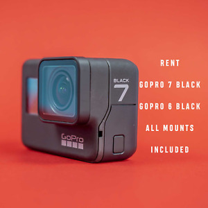 Rent GoPro 7 / 6 Black Cameras w/Mounts INCLUDED - Go Pro