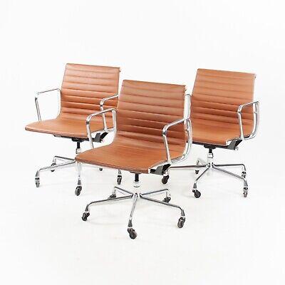 Eames Herman Miller Low Aluminum Group Executive Desk Chairs Cognac Leather 2010 (Eames Aluminum Group Executive Chair)