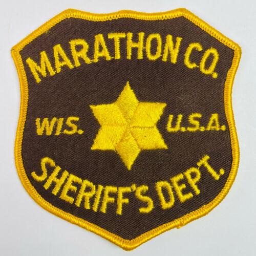 Marathon County Sheriff USA Wisconsin WI Patch