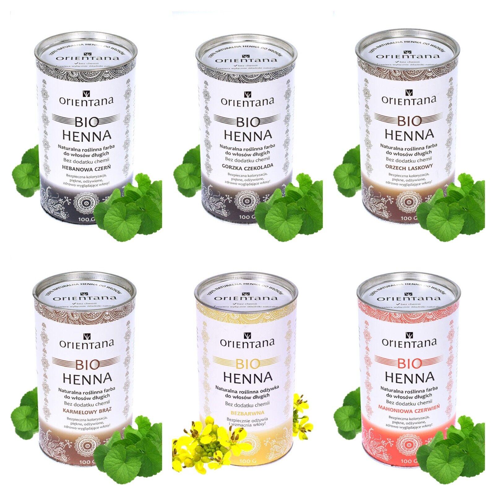 100% Bio pflanzliche Henna Haarfarbe 0% chemisch Inhaltsstoffe schwarz braun rot