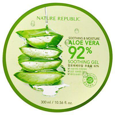 Soothing & Moisture Aloe Vera 92% Soothing Gel, 10.56 fl oz (300 ml)