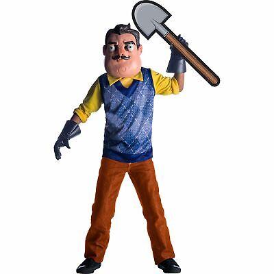 Childs Halloween Costume (The Neighbor-Hello Neighbor Halloween Costume for Kids with Shovel)
