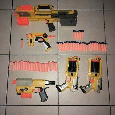 Lot Of 5 Nerf Guns + Parts and Accessories With A Bunch Of Bullets /Dual Weild