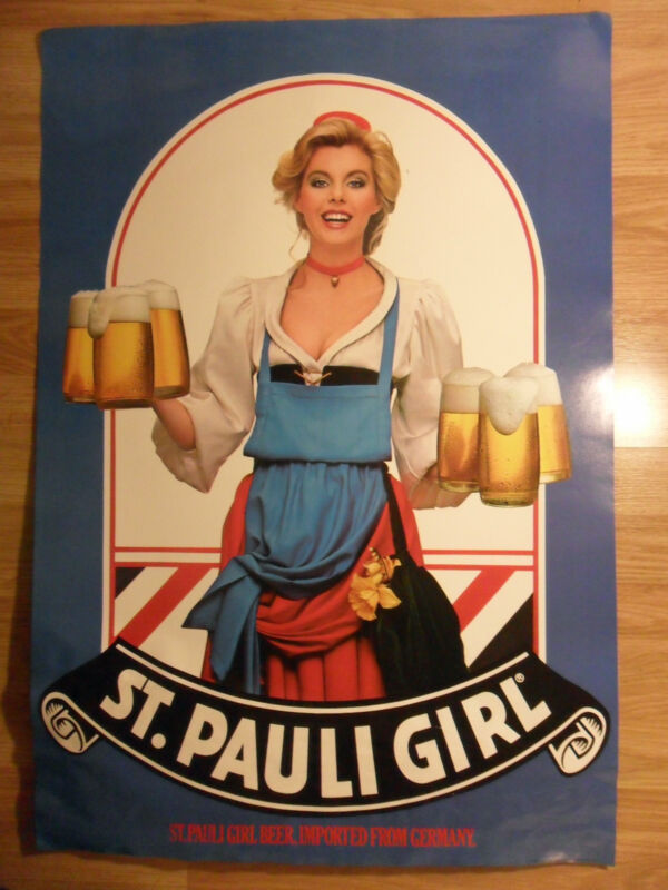 Sexy Girl Beer Poster St. Pauli Country Blonde #1