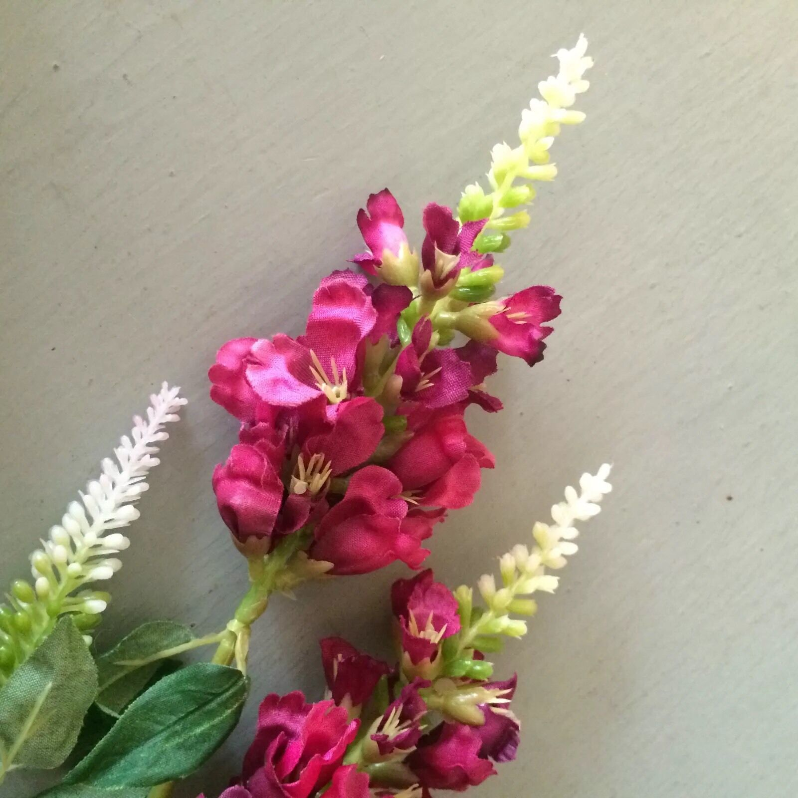 Bunch Of Plum Physostegia Obedient Plant Realistic Artificial Silk