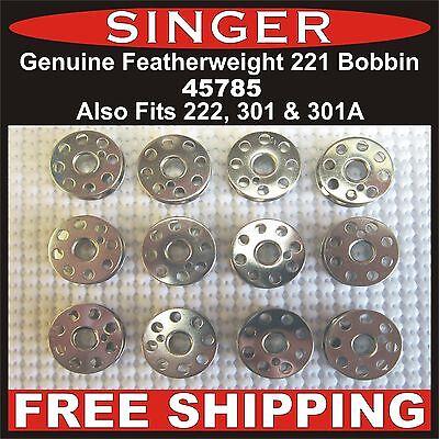 GENUINE SINGER Featherweight Bobbin Bobbins 221, 222 & 301, 301A FREE Shipping!!