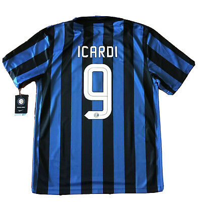 2015/16 Inter Milan Home Jersey #9 Icardi Large NIKE Soccer Internazionale NEW image
