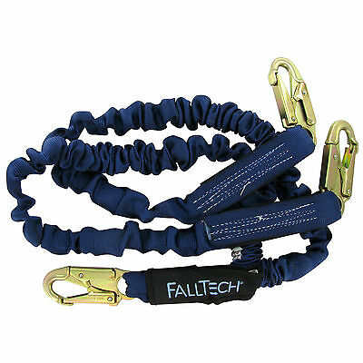 Falltech 8240y Elastech 6 Double Lanyard With Snap Hooks For Tie-off